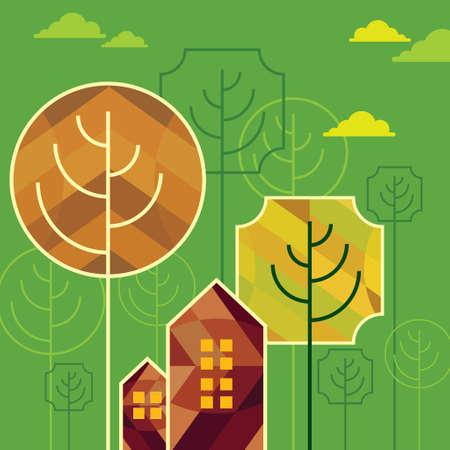 zen like: Home Eco icon - Illustration