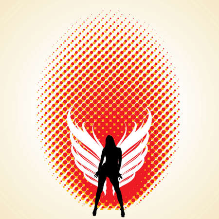 artificial wing: Winged woman - Illustration Illustration
