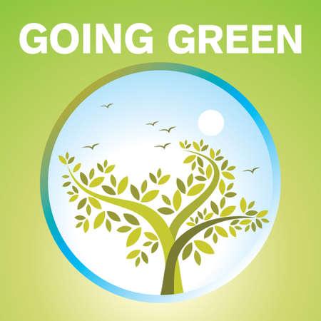 zen like: symbol of go green Illustration