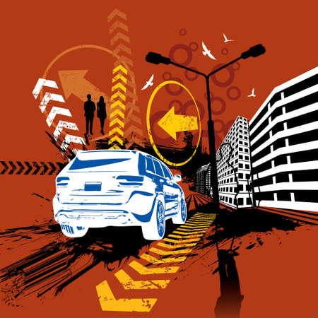City ride Illustration Vector