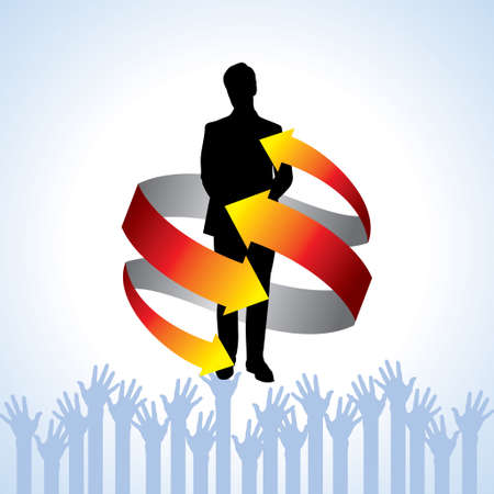 businessman and team communication, business concept design Illustration