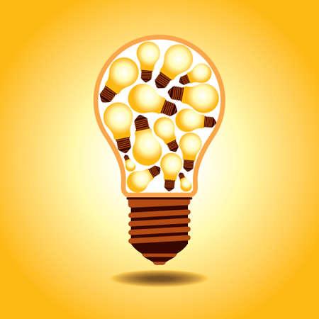 afflatus: creative idea vector Illustration