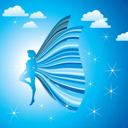 elf queen: Blue fairy queen Illustration