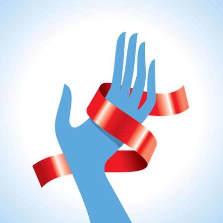 cancer ribbons: breast cancer awareness ribbons - Illustration