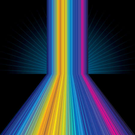 hypnotize: Abstract rainbow colored striped background