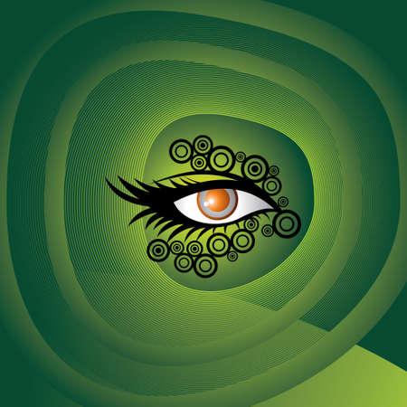 eye green: hermosa mujer de ojos verdes Vectores