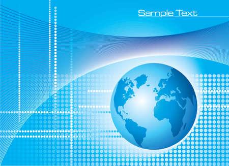 Global Communication Background - Illustration