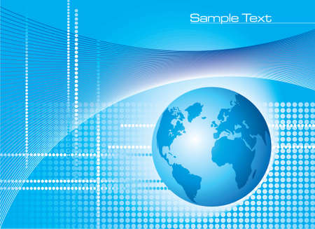 Global Communication Background - Illustration Vector