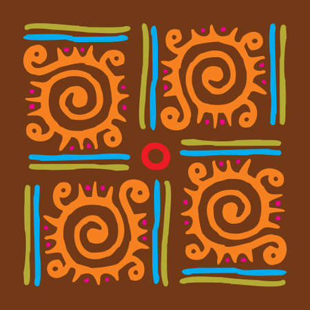 Beautiful Traditional Background - Illustration Illustration