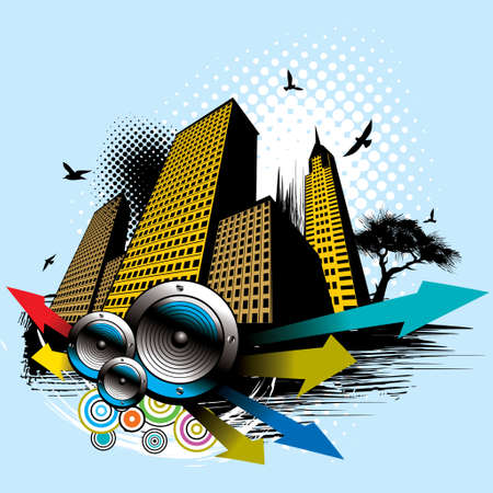 Vector illustration of style urban background Vector