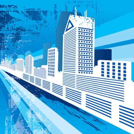 Urban City Background Illustration