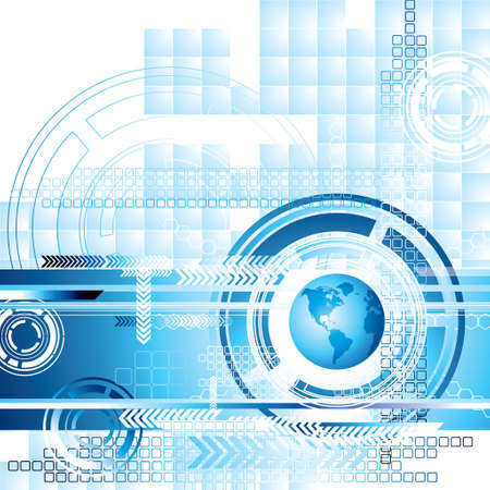 World Technology Background Vector
