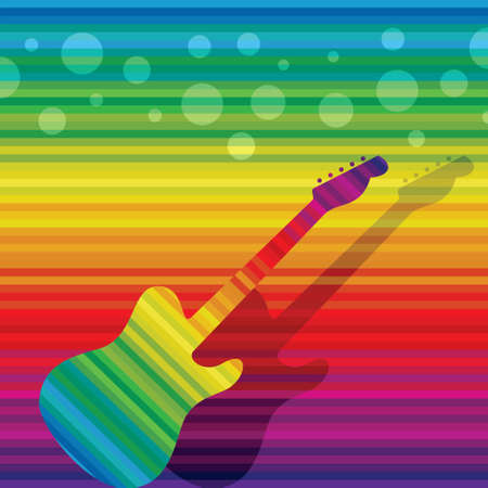 musical theater: abstract  background with guitar - Illustration Illustration