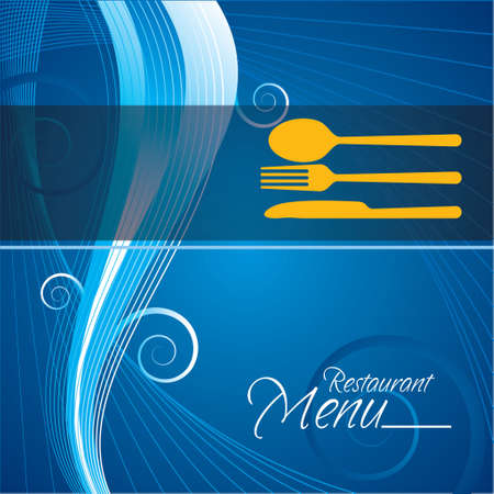 illustration of  menu card with cutlery Vector