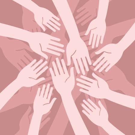 concept of unity Illustration
