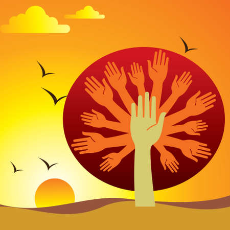 naturaleza emoción - Ilustración Ilustración de vector