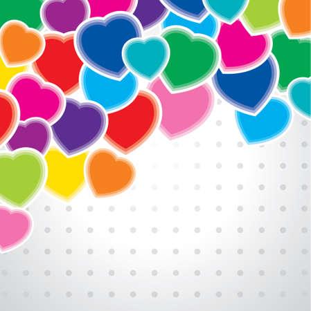 multicolored: Multicolored hearts Illustration