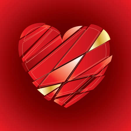 pomade: Hand drawn heart shape on paper. Vector design element eps 10.