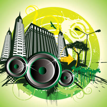 techno urban - Illustration Vector