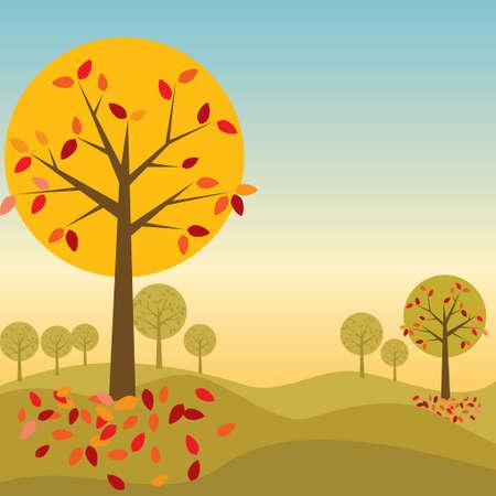 Autumn Tree - Illustration Vector