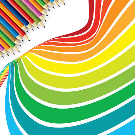Colorful pencils - Illustration Vector