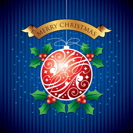 layered sphere: best Christmas red ball background