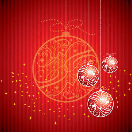 Red Christmas balls Vector