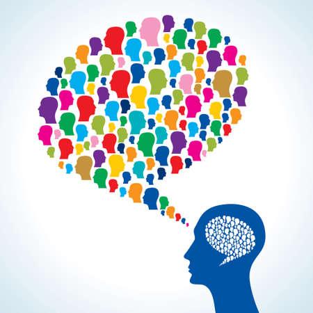 human talks in a speech bubble. vector