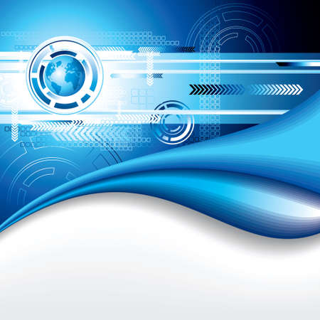 mailer: Abstract blue background - Illustration