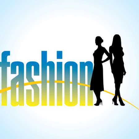 flaying: fashion women illustration Illustration