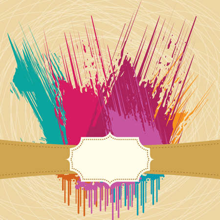 photographic effects: Abstract color Blot for Grunge Backgound - Illustration