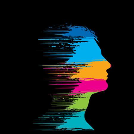 Blank Human Head Ilustração