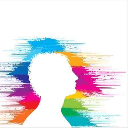 Illustration of a head Illustration