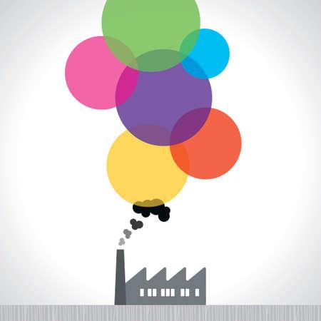 smoke stack: Icon Factory - illustrazione