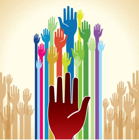charity and relief work: Volunteer - Illustration Illustration
