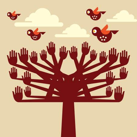 formal garden: Saving nature - Illustration - Illustration