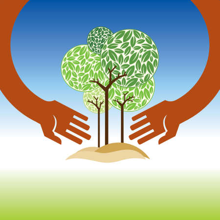 formal garden: Save nature! - Illustration