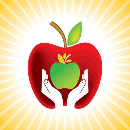 Apple - Illustration Vector