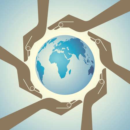 Monde multi culturel - Illustration