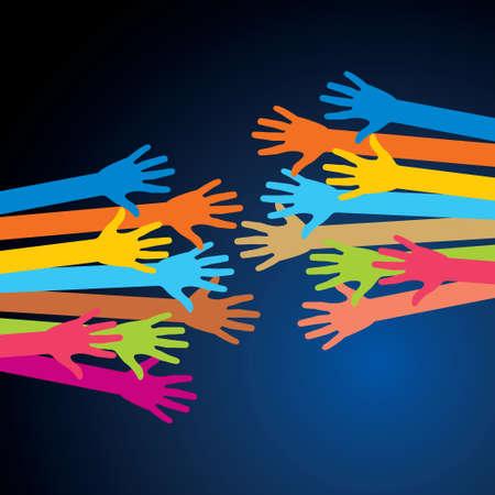 인간의 손에: 인간의 손 - 그림