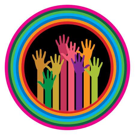 Volunteer Community Hands - Illustration Vector