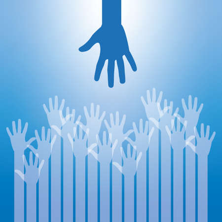 up hands for help