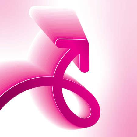 Pink Arrow - Stock Image Vector
