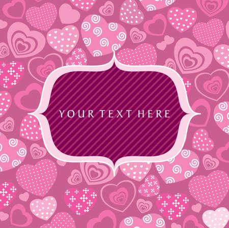 seamless hearts pattern - Illustration Vector