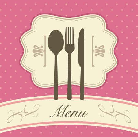 Restaurant menu template vector illustration - Illustration Vector