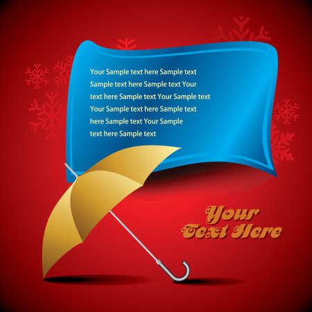 yellow umbrella isolated Vector