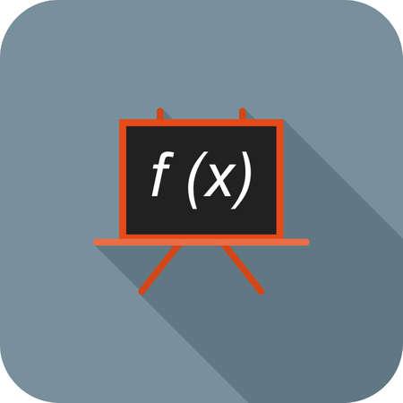 Formula flat long shadow icon Ilustração