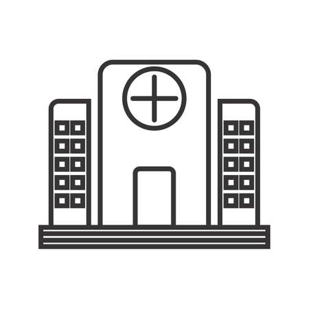 Hospital Line Black Icon