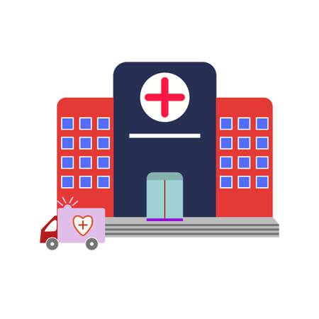 Hospital flat Multi color icon Ilustração