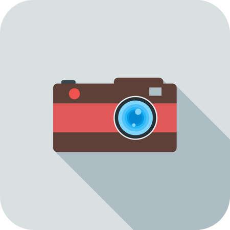 Camera Flat Long Shadow Icon Ilustração